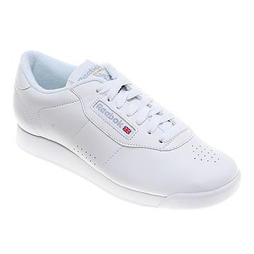white reebok princess tennis shoes