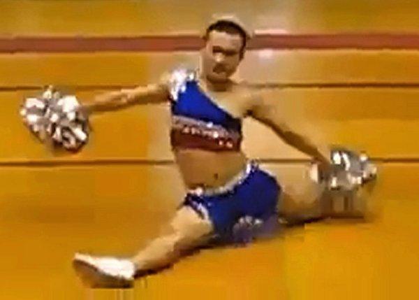 Funny male cheerleaders