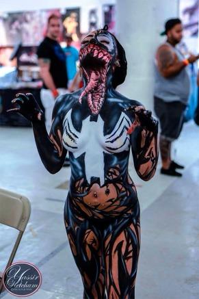 Awesome-Lady-Venom-Full-Body-Paint